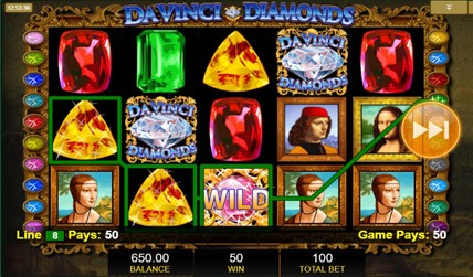 Davinci Diamonds Slot screenshot 3