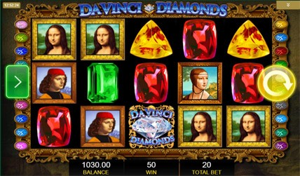 Davinci Diamonds Slot screenshot 1