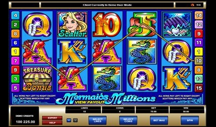 mermaids millions slot game screenshot 2