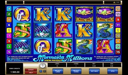 mermaids millions slot game screenshot 3